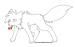 .: Christmas Wolf Template :. by RoxasLover-KH2