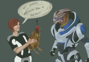 Mass Effect Chicken by rol-sa