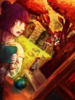 LPII: Sunset Library by Scarlet-Songstress