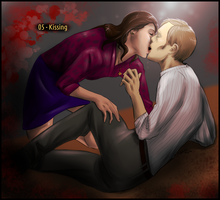 30 Day Hannibloom - 05 Kissing by FuriarossaAndMimma