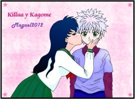 Kagome_y_Killua by Magael