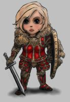 Chibi Lion Knight finished fem by DeadArmour