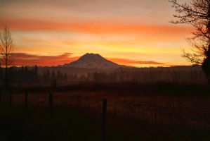 Rainier Sunrise 2 by fotophi