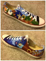 Sonic and Megaman Shoes by RyouGirl