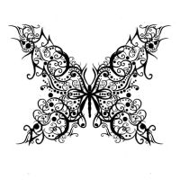 Filigree Butterfly Tattoo by Quicksilverfury