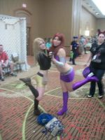 Akon '11 - Starfire and Terra by TexConChaser
