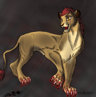 Mourin Lioness COLLAR VERSION by Vitanifan55
