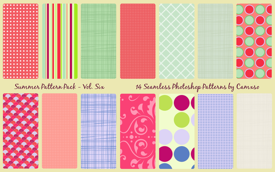 Summer Pattern Pack Vol. 6 by Camxso