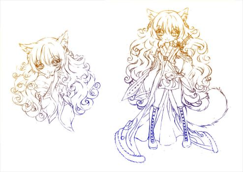 kitsune avi... sketches by sureya