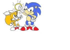 Sonic and Tails Colored by sonic-fan-126