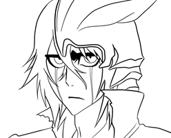 Ulquiorra LineArt by InuMeister