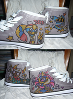 kirby vilainy shoes by Kirbycutieslove76