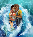 Video Game Lovers| Tidus and Yuna by DoodleBerryAsh