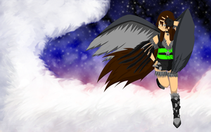 Kelly with Wings Wallpaper by TrainerKelly