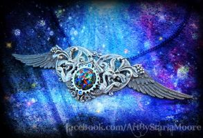 Celestial Cathedral Pendant 1 by ArtByStarlaMoore