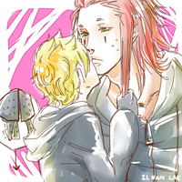 Axel is too tall for Roxas. by ILsama