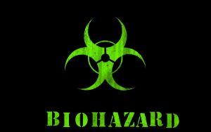 Green Black Biohazard Wallpape by kstrayhorn
