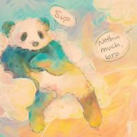 Pandas Like Chillin by ClumsyKee