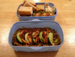 Chicken Noodle Cucumber Bento by hayleywarner