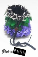 Chainmaille Dice Bag of Holding by Agorphia