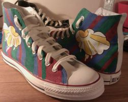 Shoes: Cloud and Stripes by GAME-OVER-CUSTOM