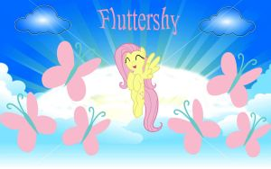Fluttershy Wallpaper by Macgrubor