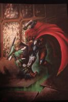 LINK GANON OCARINA OF TIME by DEVIAN-MALKHAVIAN