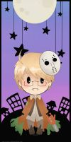 Bookmark APH Halloween America by Owyn-Sama