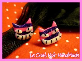 Cheshire Cat earrings by LeChatNoirHandMade