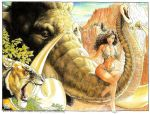 Cavewoman wraparound cover by BuddRoot
