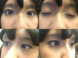 I'm wearing different Anime eyeliner eye makeup 2 by Magic-Kristina-KW