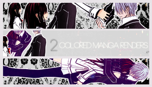 2 Colored manga renders [Vampire Knight] by WaveQuestionmark