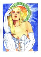 White Queen - pin-up by Jerantino