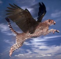 The Cheetah Takes Flight by acer-v