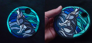 FOR SALE: Embroidery - Northern lights howl by goiku