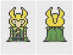 Loki Cross-Stitch Template by CreamyXD