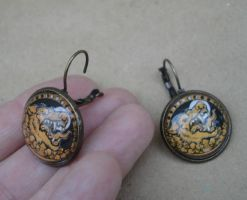Werewolf Dangle Earrings by missmonster