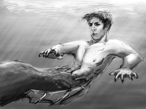 Merman by creepy-orange