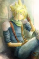 Cloud Strife - A Moment's Rest by neir-2-you