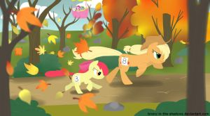 The Apple Running of the Leaves by brony-in-the-shadows
