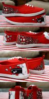 Super Mario Themed Shoes by RhapsodyArt