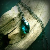 Mermaid Tears Teal Quartz Pendant~ by QuintessentialArts