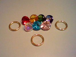 Chaos Emeralds and Sonic Rings by GothNebula