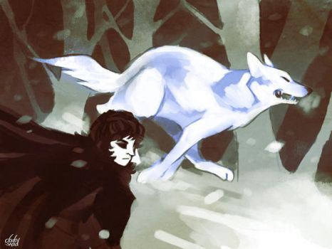 ghost and snow by dodostad