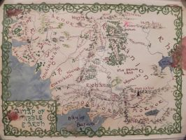 Map of Middle Earth by Insholent