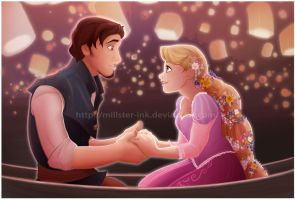 Tangled - lights by Millster-Ink