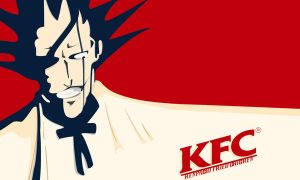 Kenpachi Fried Chicken Wall by DeviantJC