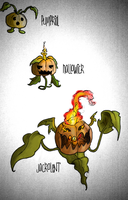Fakemon- Pumpkin family by AlphaXXI