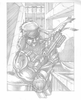 Solid Snake - Pencil by Av3r