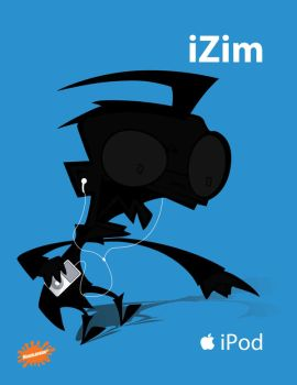 iPod Ads - iZim - Dib by omniferous